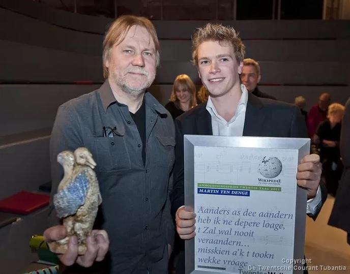 Aanmoedigingsprijs Twentse Taal voor Ter Denge uit Rijssen